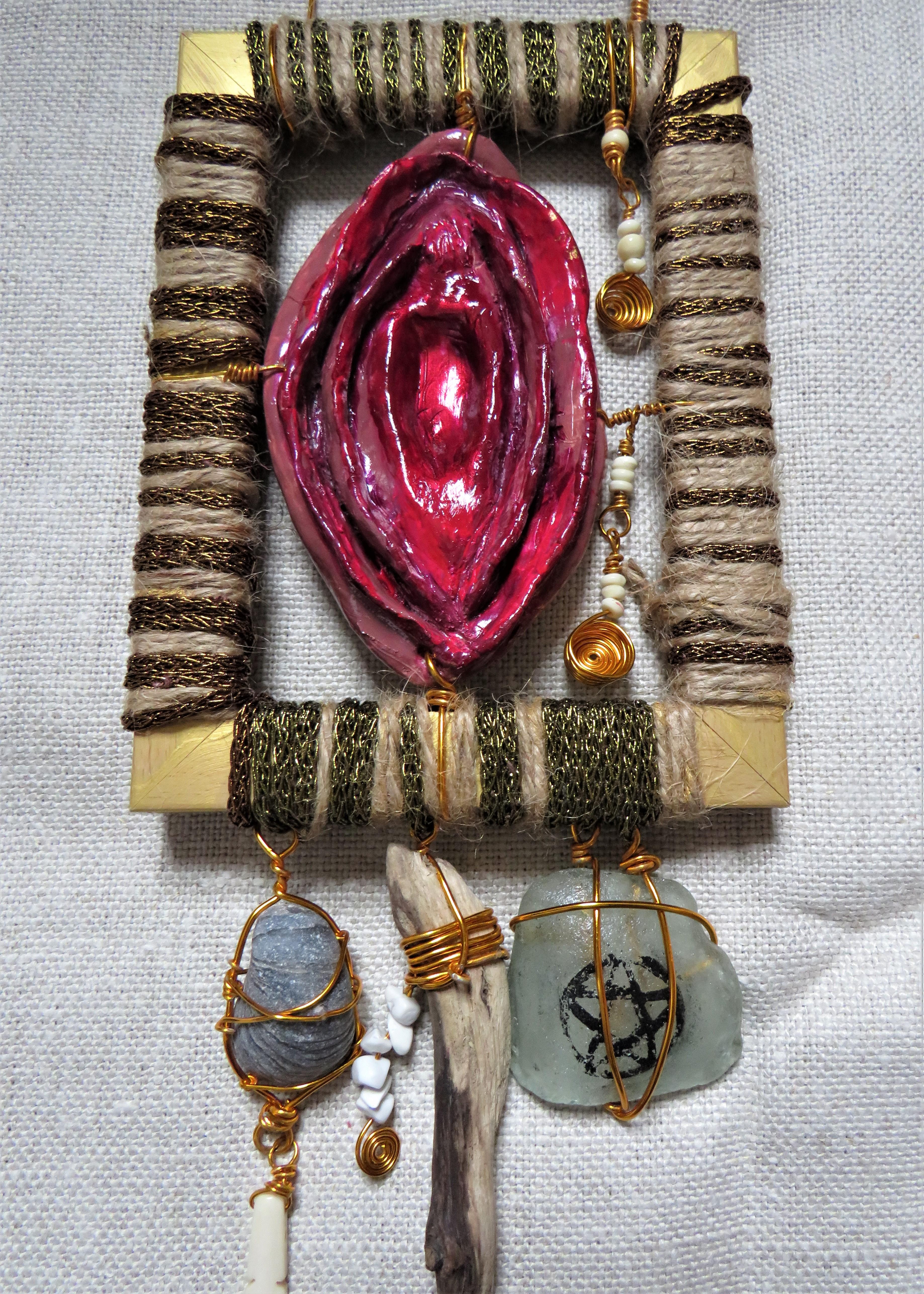 mixed media goddess worship artefact feminist art activism